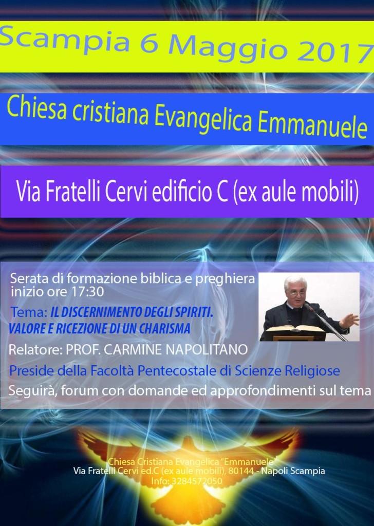 locandina serata di formazione biblica e di preghiera